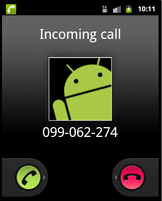 android incoming call