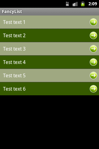 Android fancy listview
