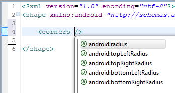android shape corner