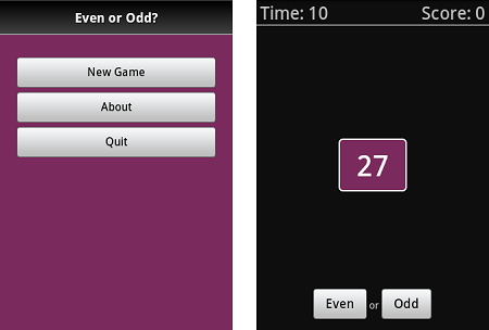 Android Game Even or Odd