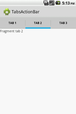 Example using ViewPager with ActionBarSherlock tabs – Android